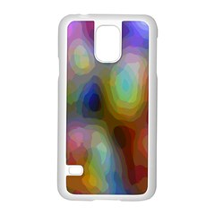 A Mix Of Colors In An Abstract Blend For A Background Samsung Galaxy S5 Case (white) by Amaryn4rt