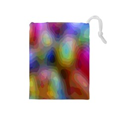 A Mix Of Colors In An Abstract Blend For A Background Drawstring Pouches (medium)  by Amaryn4rt