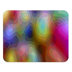 A Mix Of Colors In An Abstract Blend For A Background Double Sided Flano Blanket (large)  by Amaryn4rt