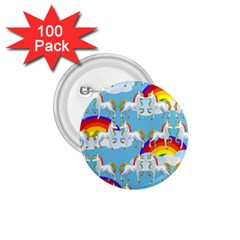 Rainbow Pony  1 75  Buttons (100 Pack)  by Valentinaart