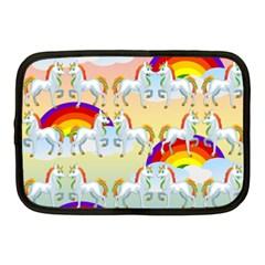 Rainbow Pony  Netbook Case (medium)  by Valentinaart
