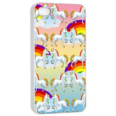 Rainbow Pony  Apple Iphone 4/4s Seamless Case (white) by Valentinaart