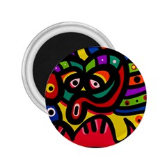 A Seamless Crazy Face Doodle Pattern 2 25  Magnets by Amaryn4rt