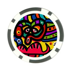 A Seamless Crazy Face Doodle Pattern Poker Chip Card Guard (10 Pack) by Amaryn4rt