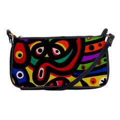 A Seamless Crazy Face Doodle Pattern Shoulder Clutch Bags by Amaryn4rt