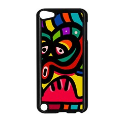 A Seamless Crazy Face Doodle Pattern Apple Ipod Touch 5 Case (black) by Amaryn4rt