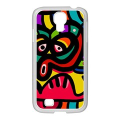 A Seamless Crazy Face Doodle Pattern Samsung Galaxy S4 I9500/ I9505 Case (white) by Amaryn4rt
