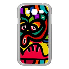 A Seamless Crazy Face Doodle Pattern Samsung Galaxy Grand Duos I9082 Case (white) by Amaryn4rt
