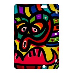 A Seamless Crazy Face Doodle Pattern Kindle Fire Hdx 8 9  Hardshell Case by Amaryn4rt