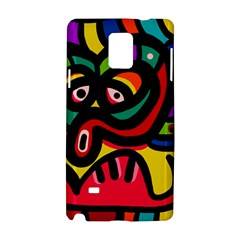 A Seamless Crazy Face Doodle Pattern Samsung Galaxy Note 4 Hardshell Case by Amaryn4rt