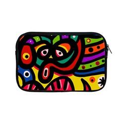 A Seamless Crazy Face Doodle Pattern Apple Macbook Pro 13  Zipper Case by Amaryn4rt