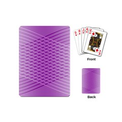 Abstract Lines Background Playing Cards (mini)  by Amaryn4rt