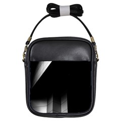 Wall White Black Abstract Girls Sling Bags by Amaryn4rt