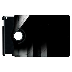 Wall White Black Abstract Apple Ipad 3/4 Flip 360 Case by Amaryn4rt