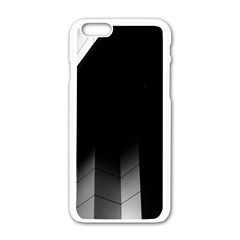 Wall White Black Abstract Apple Iphone 6/6s White Enamel Case by Amaryn4rt