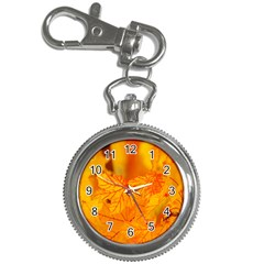 Bright Yellow Autumn Leaves Key Chain Watches by Amaryn4rt
