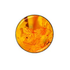 Bright Yellow Autumn Leaves Hat Clip Ball Marker (4 Pack) by Amaryn4rt