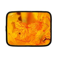 Bright Yellow Autumn Leaves Netbook Case (small)  by Amaryn4rt