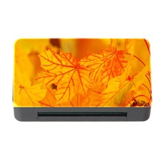 Bright Yellow Autumn Leaves Memory Card Reader With Cf by Amaryn4rt