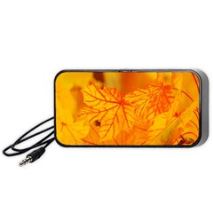 Bright Yellow Autumn Leaves Portable Speaker (black) by Amaryn4rt