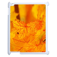 Bright Yellow Autumn Leaves Apple Ipad 2 Case (white) by Amaryn4rt