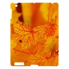 Bright Yellow Autumn Leaves Apple Ipad 3/4 Hardshell Case by Amaryn4rt