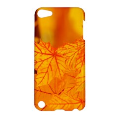 Bright Yellow Autumn Leaves Apple Ipod Touch 5 Hardshell Case by Amaryn4rt
