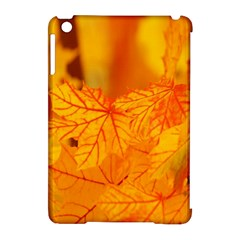 Bright Yellow Autumn Leaves Apple Ipad Mini Hardshell Case (compatible With Smart Cover) by Amaryn4rt