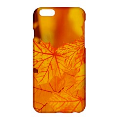 Bright Yellow Autumn Leaves Apple Iphone 6 Plus/6s Plus Hardshell Case by Amaryn4rt