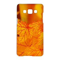 Bright Yellow Autumn Leaves Samsung Galaxy A5 Hardshell Case  by Amaryn4rt