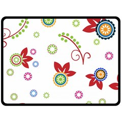Colorful Floral Wallpaper Background Pattern Fleece Blanket (large)  by Amaryn4rt