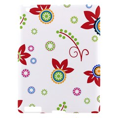 Colorful Floral Wallpaper Background Pattern Apple Ipad 3/4 Hardshell Case by Amaryn4rt