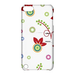 Colorful Floral Wallpaper Background Pattern Apple Ipod Touch 5 Hardshell Case With Stand by Amaryn4rt