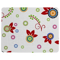 Colorful Floral Wallpaper Background Pattern Jigsaw Puzzle Photo Stand (rectangular) by Amaryn4rt