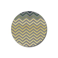 Abstract Vintage Lines Rubber Round Coaster (4 Pack)  by Amaryn4rt