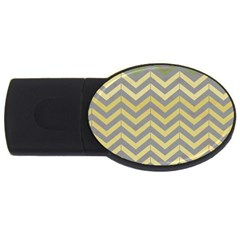 Abstract Vintage Lines Usb Flash Drive Oval (2 Gb) by Amaryn4rt