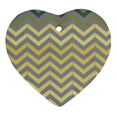 Abstract Vintage Lines Heart Ornament (two Sides) by Amaryn4rt