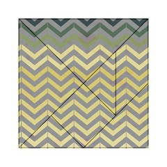 Abstract Vintage Lines Acrylic Tangram Puzzle (6  X 6 ) by Amaryn4rt