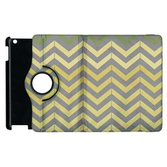 Abstract Vintage Lines Apple Ipad 3/4 Flip 360 Case by Amaryn4rt