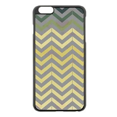 Abstract Vintage Lines Apple Iphone 6 Plus/6s Plus Black Enamel Case by Amaryn4rt