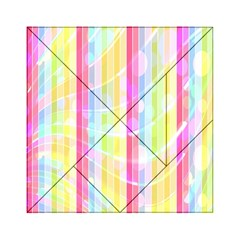 Colorful Abstract Stripes Circles And Waves Wallpaper Background Acrylic Tangram Puzzle (6  X 6 ) by Amaryn4rt
