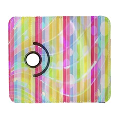 Colorful Abstract Stripes Circles And Waves Wallpaper Background Galaxy S3 (flip/folio) by Amaryn4rt