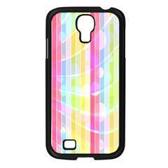 Colorful Abstract Stripes Circles And Waves Wallpaper Background Samsung Galaxy S4 I9500/ I9505 Case (black) by Amaryn4rt