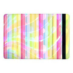 Colorful Abstract Stripes Circles And Waves Wallpaper Background Samsung Galaxy Tab Pro 10 1  Flip Case by Amaryn4rt