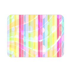 Colorful Abstract Stripes Circles And Waves Wallpaper Background Double Sided Flano Blanket (mini)  by Amaryn4rt
