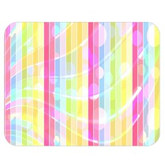 Colorful Abstract Stripes Circles And Waves Wallpaper Background Double Sided Flano Blanket (medium)  by Amaryn4rt