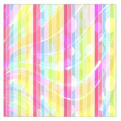 Colorful Abstract Stripes Circles And Waves Wallpaper Background Large Satin Scarf (square) by Amaryn4rt