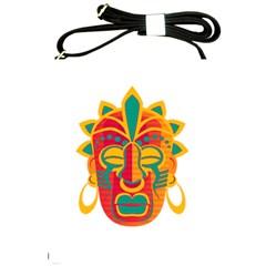 Mask Shoulder Sling Bags by Valentinaart