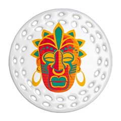 Mask Round Filigree Ornament (two Sides) by Valentinaart