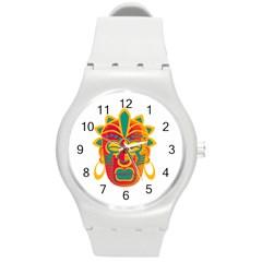 Mask Round Plastic Sport Watch (m) by Valentinaart